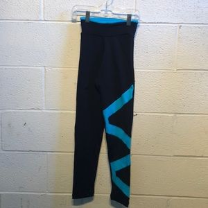 Margarita black & blue leggings sz 1  59222
